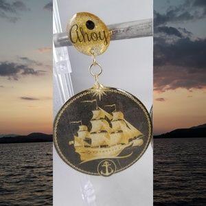 Jewelry - Ahoy Glitter Earrings by TreasurableTreats